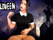 Halloween - WEDNESDAY ADDAMS DRIVING YOU CRAZY TEASING - SEX MACHINE