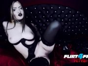 sexy Gothic Babe fucks Herself in Latex BDSM